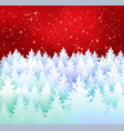 winter landscape red and white background vector image vector image