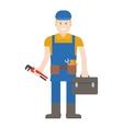 Worker man character vector image vector image