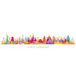 world skyline landmarks silhouette in colorful vector image vector image