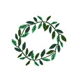 wreath green leaves with place for text vector image vector image