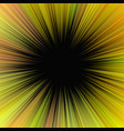 yellow hypnotic abstract ray burst background vector image vector image
