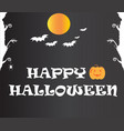 happy halloween text banner happy halloween text vector image