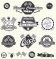 Retro Race Car Champion Labels