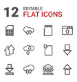 12 upload icons vector image vector image