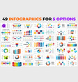 49 infographics for 5 options arrows elements