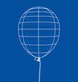 air balloon outline vector image