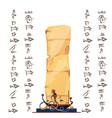ancient egypt papyrus cartoon vector image vector image