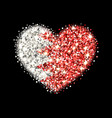 bahrain flag sparkling heart badge vector image