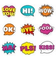 Bright colorful stickers vector image vector image