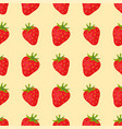 cartoon fresh strawberry fruits in flat style vector image vector image