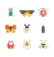 Colorful Bugs Icons vector image vector image