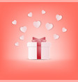 creative happy valentines day postcard vector image