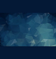 dark blue polygonal which consist of triangles vector image vector image