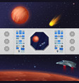dashboard with spaceship vector image vector image