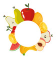 delicious fruits background vector image