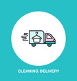 delivery colored flat line icon fast dry cleaning vector image vector image