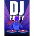 Dj Party In Night Club Concept vector image