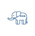 elephant usarepublican party line icon concept vector image vector image