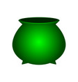 empty coin pot for st patrick s day symbol vector image vector image