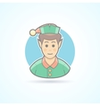 Fairy elf Santa assistant minion icon vector image vector image