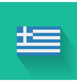 Flat flag of Greece vector image