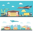 Flat logisticequipment and delivery service vector image