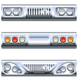Front and Rear Car Part vector image vector image