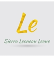 Golden Symbol of the Sierra Leonean Leone vector image
