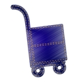 Hand truck sign vector image vector image