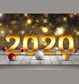 happy new year background with golden letters on vector image vector image