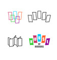 house mirrors logo set funhouse with mirrors vector image vector image