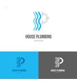 house plumbing logo vector image