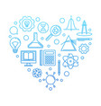 i love school concept blue on white vector image vector image