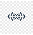 justice concept linear icon isolated on vector image vector image
