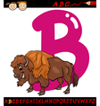 letter b for bison cartoon vector image vector image