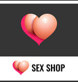 logo for sex shop or site with adult video vector image vector image