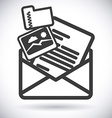 mail icon design eps10 graphic vector image vector image