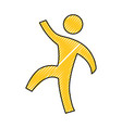man pictogram symbol vector image vector image