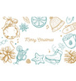 merry christmas and new year holidays collection vector image