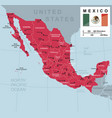 mexico map vector image