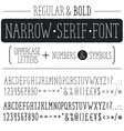 Narrow font vector image