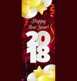 new year 2018 banner vector image vector image