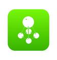 nitromethane icon green vector image vector image