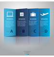Paper Infographic vector image vector image