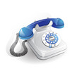 retro style telephone with wire connection vector image