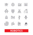 robotics android cyborg robot factory vector image vector image