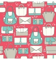 Seamless with cute teal and vector image vector image