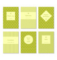 set card templates vector image