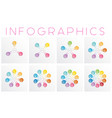 Set colorful infographics templates for different