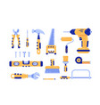 set construction tools vector image